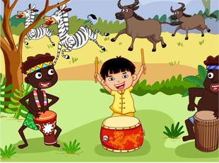 大班音乐非洲鼓教案——《森林音乐会》
